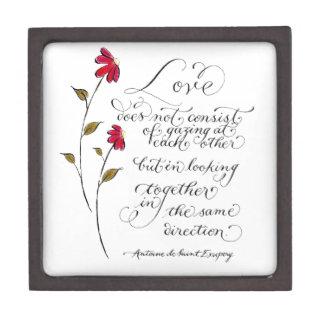同じ方向ロマンチックな引用文の愛 ギフトボックス