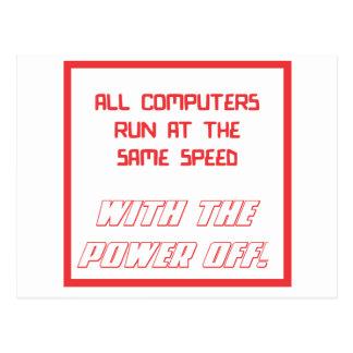 同じ速度で走られるすべてのコンピュータ ポストカード