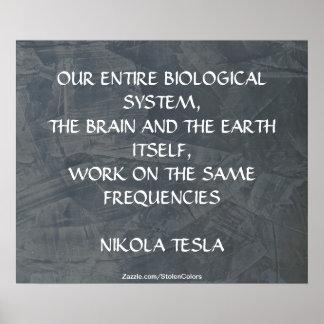 同じ頻度-ニコラ・テスラ ポスター