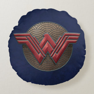 同心円上のワンダーウーマンの記号 ラウンドクッション