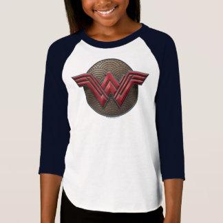 同心円上のワンダーウーマンの記号 Tシャツ