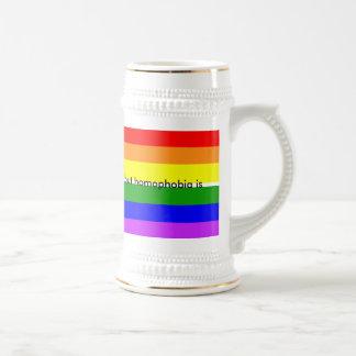 同性愛は選択ではないですが、同性愛恐怖症はそうです ビールジョッキ
