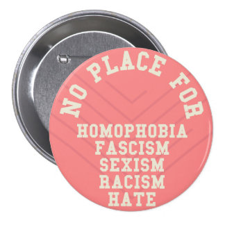 同性愛恐怖症の引用文のための場所無し 7.6CM 丸型バッジ