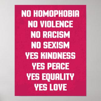 同性愛恐怖症の引用文無し ポスター