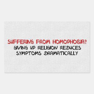 同性愛恐怖症の治療 長方形シール