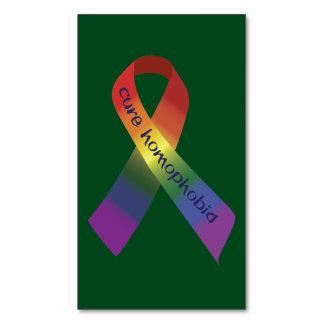 同性愛恐怖症の認識度のリボン マグネット名刺
