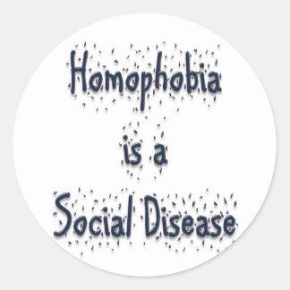 同性愛恐怖症は社会病気です ラウンドシール