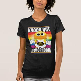 同性愛恐怖症をノックアウトして下さい Tシャツ