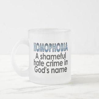 同性愛恐怖症: 神の名前の恥ずかしい憎悪犯罪 フロストグラスマグカップ