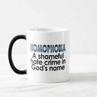 同性愛恐怖症: 神の名前の恥ずかしい憎悪犯罪 モーフィングマグカップ