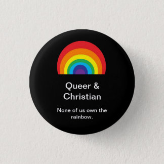 同性愛者およびクリスチャン 3.2CM 丸型バッジ