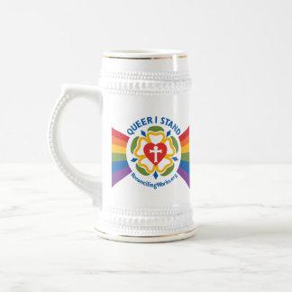 """""""同性愛者私は""""ジョッキを立てます ビールジョッキ"""