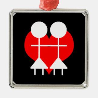 同性愛-レズビアン メタルオーナメント