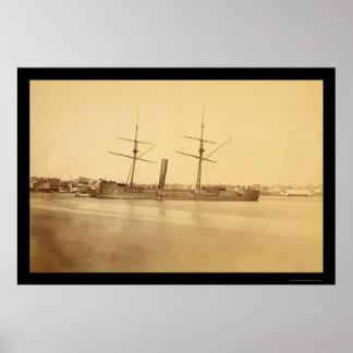 同盟の甲鉄、ストーンウォール1862年 ポスター