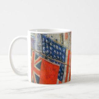 同盟国日、Childe Hassamのヴィンテージの芸術著1917年5月 コーヒーマグカップ