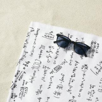 同等化および数学の方式 ビーチタオル
