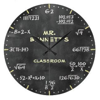 同等化のPersonalizableの数学時計 ラージ壁時計