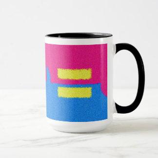 同輩はロゴ、印象派のスタイルを訂正します マグカップ
