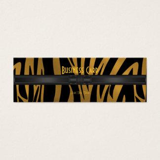 名刺のエキゾチックなアフリカのシマウマの金ゴールド2 スキニー名刺