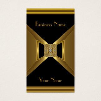 名刺のエレガントな金ゴールドの黒の宝石 名刺