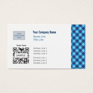 名刺のテンプレートの一般的で青いアーガイル 名刺