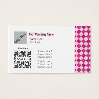 名刺のテンプレートの一般的なピンクのアーガイル 名刺