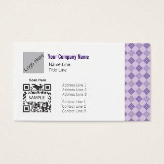 名刺のテンプレートの一般的な紫色のアーガイル 名刺