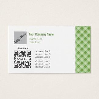名刺のテンプレートの一般的な緑のアーガイル 名刺