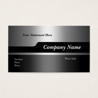 名刺の会社のエレガントで黒い銀 名刺