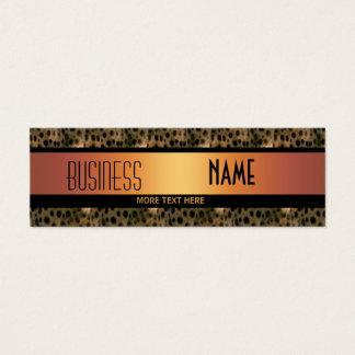名刺の金ゴールドの黒のヒョウ スキニー名刺