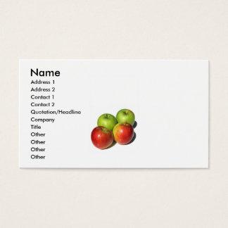 名刺の4個のりんご 名刺