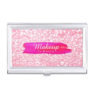 名刺入れ-化粧のグリッターのピンク 名刺ケース