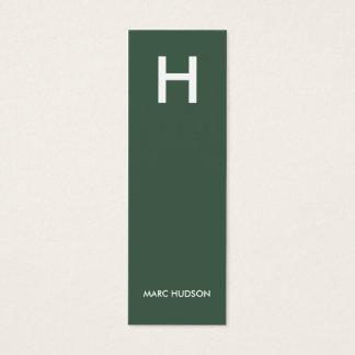 名刺003 -細いスタイリッシュ、緑/白 スキニー名刺