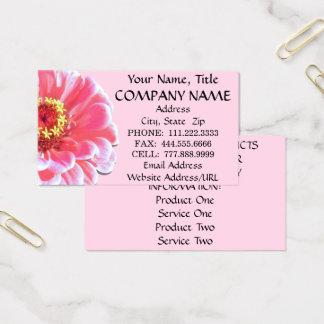 名刺-ピンクの《植物》百日草 名刺