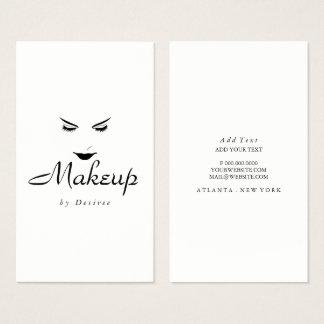 名刺-化粧の単純化した鞭の唇 名刺