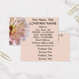 名刺-最も淡い色のなピンクの《植物》百日草 名刺