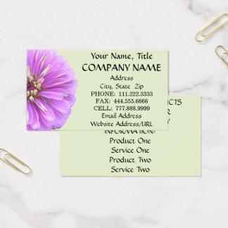名刺-薄紫の《植物》百日草 名刺