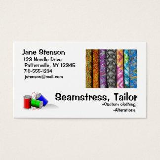 名刺: 裁縫婦、テーラー 名刺