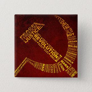 名前および年のソ連国旗 5.1CM 正方形バッジ