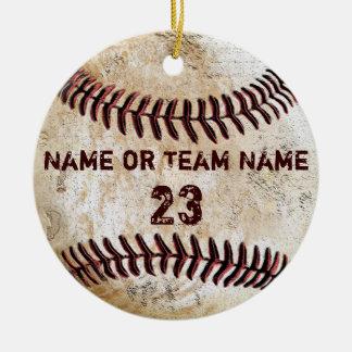 名前および数を用いるヴィンテージの野球のオーナメント セラミックオーナメント