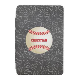 名前および野球の黒板の野球パターン iPad MINIカバー