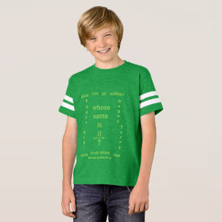 名前がそれであるKids'Unisexのフットボールのワイシャツ、か。、 Tシャツ