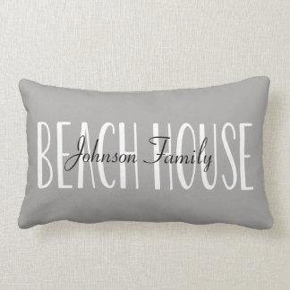 名前と名前入りなビーチハウスの枕 ランバークッション
