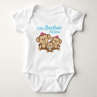 名前によってカスタマイズ猿の弟を加えて下さい ベビーボディスーツ