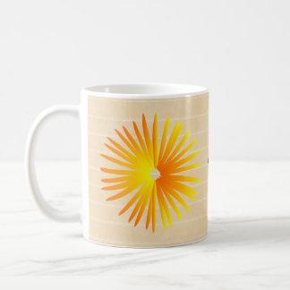 名前のかわいらしい太陽 コーヒーマグカップ