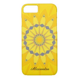 名前のかわいらしく黄色い夏のデイジーの花 iPhone 8/7ケース