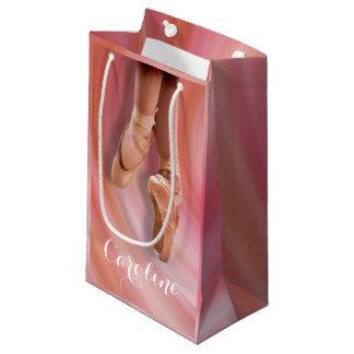 名前のつま先靴のバレエダンサー スモールペーパーバッグ