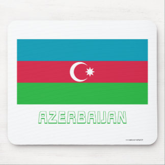 名前のアゼルバイジャンの旗 マウスパッド