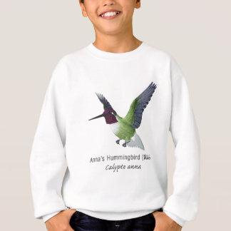 名前のアナのハチドリの男性 スウェットシャツ