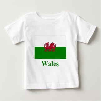 名前のウェールズの旗 ベビーTシャツ
